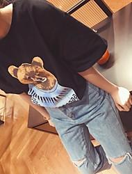 firmare donne coreane erano sottili winnie allentata del fumetto stampato maglietta a maniche corte girocollo studente toccare il fondo
