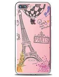 abordables -Funda Para Apple iPhone 7 Plus iPhone 7 Transparente Diseños Funda Trasera Palabra / Frase Torre Eiffel Suave TPU para iPhone 7 Plus