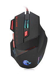 HXSJ brand High-end optical professional gaming mouse with 7 bright colors LED backlit and ergonomics design for comfortable touch