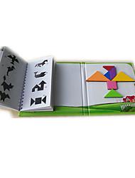 Недорогие -Китайская геометрическая головоломка Конструкторы Пазлы Магнитный Детские Универсальные Мальчики Девочки Игрушки Подарок / Деревянные пазлы