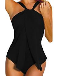 cheap -Women's Bandeau Solid One-piece
