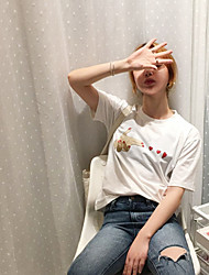 Real shot in summer 2017 new Korean version of the pistol gesture sweet peach heart printed short-sleeved T-shirt Japanese female students