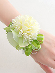 cheap -Wedding Flowers Free-form Lilies Peonies Wrist Corsages Wedding Party/ Evening Satin