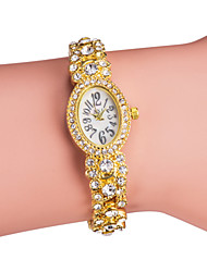 Femme Montre Tendance Bracelet de Montre Japonais Quartz Imitation de diamant Bande Etincelant Elégantes Argent Doré Or Argent
