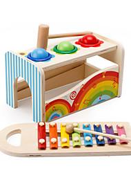 baratos -Hammering / Pounding Toy Blocos de Construir Brinquedo Para Bebê Brinquedos Quadrada Brinquedos Educação De madeira Crianças Peças