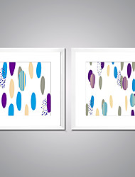 Framed Art Print Abstract Leisure Modern,Two Panels Canvas Square Print Wall Decor For Home Decoration