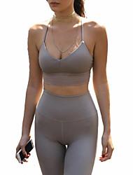 economico -Yoga Set di vestiti Traspirante Morbido Comodo Elastico Abbigliamento sportivo Per donna Yoga