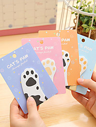 cheap -1 PCS Cat's Paw Cute Self-Stick Notes
