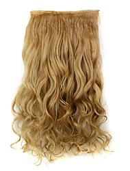 cheap -Clip In Hair Extensions Hairpiece 23inch 58cm 110g Curly Wavy Hair Extension Synthetic Heat Resistant D1010 27#