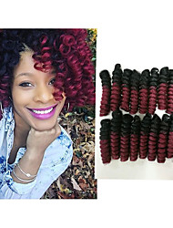 cheap -Crochet Bouncy Curl 100% kanekalon hair 100% kanekalon hair Twist Braids Hair Braids