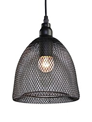 cheap -Max 60W Vintage Black Metal Mesh Loft Pendant Lights Living Room Dining Room Hallway Cafe Bars Clothing Store decoration Light Fixture