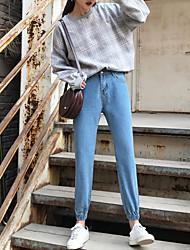 unterzeichnet Frühling Jeanshosen Taillenhosen Füße waren dünne Strumpfhosen Meter breites Lied Halun Hosen erhalten