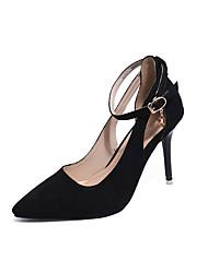 Da donna Tacchi Club Shoes Felpato Primavera Estate Formale Serata e festa Club Shoes Fibbia A stiletto Nero Rosso Verde 10 - 12 cm