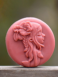 cheap -Long Hair Girl Shape Soap Mold DIY Silicone Soap Mold Handmade Soap Salt Carved DIY Silicone Food Grade Silicone Mold
