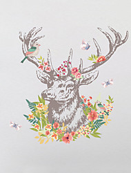 Wall Stickers Wall Decals Style The Deer Head PVC Wall Stickers