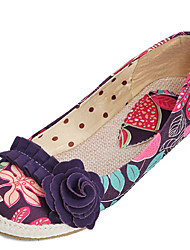 Women's Flats Summer Fall Comfort Light Soles Fabric Outdoor Dress Casual Flat Heel Flower