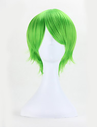 Green Color Straight Hair European Cosplay Synthetic Wigs