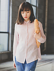 Real shot! Spot! 2017 College Wind minimalist two types or worn! Long-sleeved shirt blouse