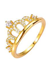 Anneaux Bague Mode Vintage Cuivre Forme de Couronne Or Bijoux Pour Mariage Soirée Fiançailles 1pc
