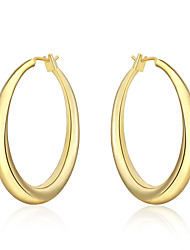 Women's Hoop Earrings Euramerican Costume Jewelry Silver Plated Round Jewelry For Daily