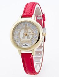 Women's Sport Watch Dress Watch Fashion Watch Wrist watch Simulated Diamond Watch Large Dial Quartz Genuine Leather Band Charm