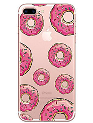 For iPhone X iPhone 8 Case Cover Transparent Pattern Back Cover Case Food Soft TPU for Apple iPhone X iPhone 8 Plus iPhone 8 iPhone 7