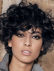 cheap -Prevailing Black Short Curly Hair  Synthetic Wigs  Suitable For All Kinds Of People
