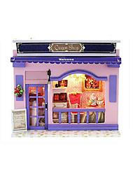 Недорогие -CUTE ROOM LED освещение Кукольный домик Наборы для моделирования Своими руками Классика Куски Детские Подарок