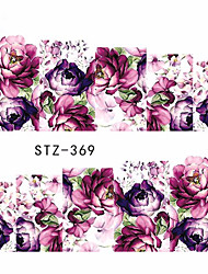 10pcs/set Hot Sale Romantic Style Nail Art Water Transfer Decals Beautiful Flower Design Nail Beauty Sticker DIY Beauty Decals STZ-369