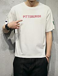 Sommermänner&# 39; s Briefe gedruckt Kurzarm T-Shirt japanischen Modell