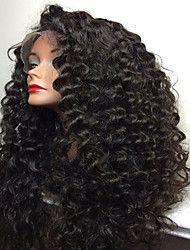 cheap -Human Hair Full Lace Wig Brazilian Hair Curly Kinky Curly With Baby Hair 180% Density 100% Hand Tied African American Wig Natural Hairline
