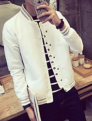 cheap -Men's Business Daily Office & Career Casual/Daily Cool Fashion Spring Jacket,Others Stand Long Sleeve Regular N/A