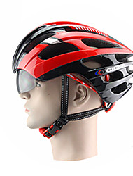 cheap -GIGNA Bike Helmet 18 Vents Cycling Adjustable Extreme Sport One Piece Helmet with Goggles Mountain PC EPS Road Cycling Recreational