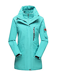 Women's 3-in-1 Jackets Waterproof Thermal / Warm Windproof Dust Proof Breathable Outdoor Winter Jacket 3-in-1 Jacket Top Double Sliders