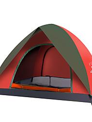 Недорогие -LINGNIU® 4 человека Световой тент На открытом воздухе Компактность Дожденепроницаемый Хорошая вентиляция Двухслойные зонты Палатка для Походы