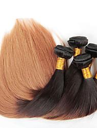 Than4lot / pz 12-26 pollici ombre vergine brasiliana dei capelli di colore dritto 1b / 27 dritto tessitura capelli