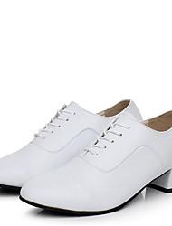 Для мужчин Современный Кожа На каблуках Для открытой площадки На низком каблуке Белый 4,5 см Не персонализируемая