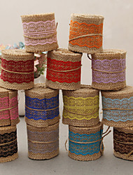 cheap -Jute Wedding Ribbons - 1 Piece/Set Weaving Ribbon Decorate favor holder Decorate gift box Decorate wedding scene