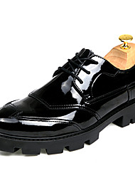 cheap -Men's Shoes Leather Spring / Fall Comfort / Bootie Oxfords Walking Shoes Black / Wedding / Party & Evening / Dress Shoes
