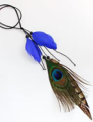 Feder Stirnbänder Blumen Kopfkette Haarclip Haarschleife Haar-Stock Kränze Kopfschmuck