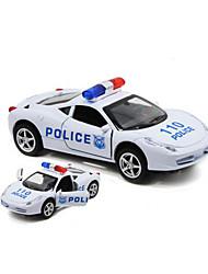 Véhicules en Métal Véhicules à Friction Arrière Petites Voitures Voiture de Police Son Simulation Automatique Alliage de métal Enfant