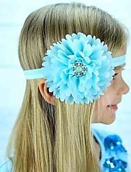 Girls New Chiffon Send Disc Burrs Headdress Flower Children Hair Band Photo Party Children Hair Band