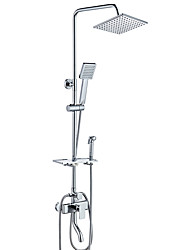 cheap -Shower Faucet - Contemporary Art Deco / Retro Chrome Centerset Ceramic Valve