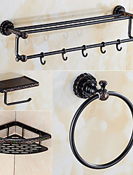 Set de Accesorios de Baño / Bronce con Baño en Aceite Retro
