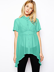 AliExpress explosion models in Europe and America perspective candy color chiffon shirt 2009 #