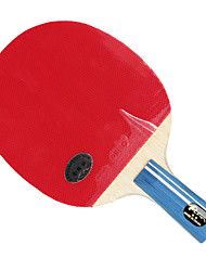 3 Stars Ping Pang/Table Tennis Rackets Ping Pang Rubber Long Handle Raw Rubber Indoor Performance Practise Leisure Sports