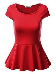 2015 donne europee e americane di nuova estate&# 39; s girocollo cotone sciolto aria maglietta camicia di colore solido maglietta