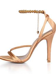 Sandales pour femmes club d'été chaussures soie mariage&Chaîne de robe de soirée