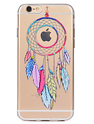 preiswerte -Für iPhone X iPhone 8 Hüllen Cover Transparent Muster Rückseitenabdeckung Hülle Traumfänger Weich TPU für Apple iPhone X iPhone 8 Plus