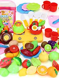 cheap -Toy Kitchen Sets Toy Food / Play Food Pretend Play Toy Kitchens & Play Food Toys Toys PVC Girls' Boys' Pieces